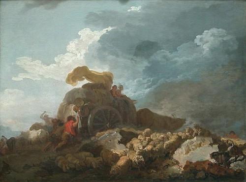 fragonard,peintre,l'orage,la charrette embourbée,graveur