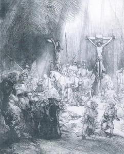 rembrandt,estampes,les trois croix