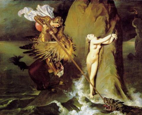 ingres,peintre,roger et angélique,hippogriffe,roland furieux,arioste