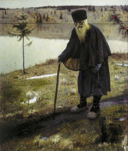 mikhaïl nesterov,l'ermite,vieillard,peintre russe,mythe