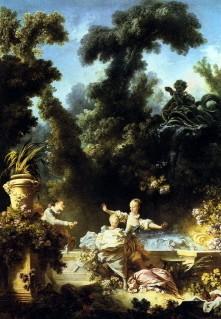 la poursuite,fragonard,progrès de l'amour,comtesse du barry,panneau,scènes galantes
