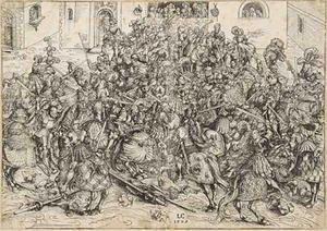 le tournoi,lucas cranach l'ancien,estampes,peintre,graveur,gravure sur bois
