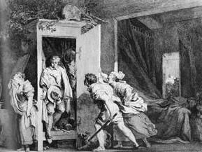 l'armoire,fragonard,estampe,gravure