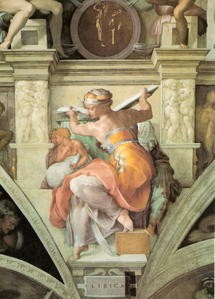 sibylle libyenne,michel-ange,fresque,chapelle sixtine