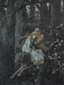 ivan tsarevitch et le loup gris,victor vasnétsov,loup gris,romantisme,folklore
