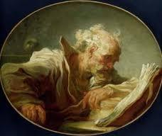 fragonard,un philosophe lisant
