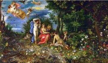 cérès et les quatre éléments,jan ier bruegel de velours,peinture,mythologie,allégories,cérès