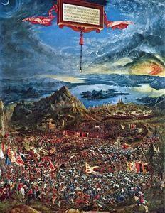 la bataille d'alexandre,albrecht altdorfer,peintre,graveur,architecte,école du danube,reproductions historiques