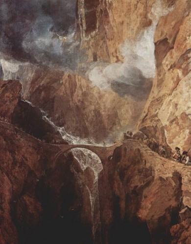 le pont du diable,william turner,visionnaire,saint-gothard,alpes suisses