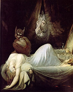 füssli,le cauchemar,peintures hallucinées