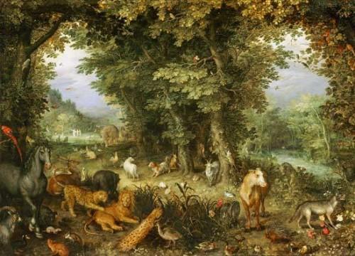 le paradis terrestre,bruegel le jeune,allégories