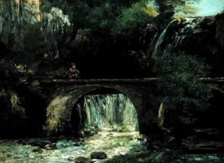 le pont,courbet,peinture,cascades,réalisme,idéalisme