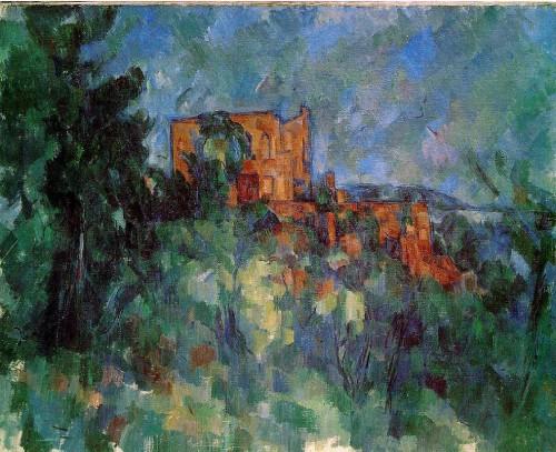 le château noir,cézanne,peintre,sous-bois