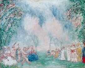 le jardin d'amour,james ensor,genre galant,aquarelle,univers onirique,humour mystificateur