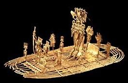 le radeau du cacique de guatavita,or,el dorado,art chibcha,bogota