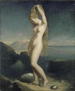 vénus marine,chassériau,peinture,sensualité,romantisme,déesse de la beauté et de l'amour