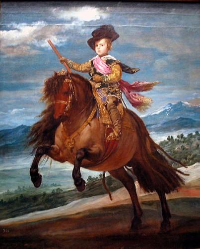 portrait équestre du prince baltasar carlos,vélasquez,peinture,infant,jument,sierras