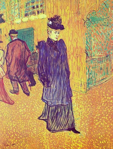 toulouse-lautrec,jane avril sortant du moulin rouge,peintre,lithographe