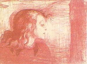 l'enfant malade,edvard munch,estampes,peintre,graveur,lithographie