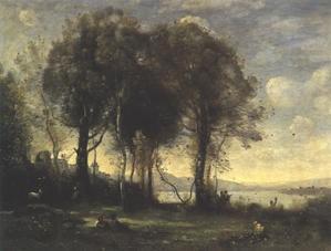 les chevriers de castelgandolfo,corot,peintre,paysagiste,résidence d'été du pape