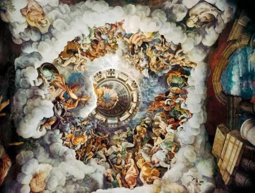 la chute des géants,jules romain,fresque,palais du te,maniérisme,dieux de l'olympe,géants
