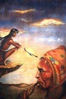 condor,légende indienne,soleil,nuit