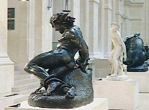 roland furieux,jean-bernard duseigneur,sculpture,arioste,hippogriffe,astolphe