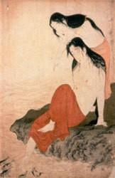 les pêcheuses d'awabi,utamaro kitagawa,estampes,gravure sur bois,ukiyo-e