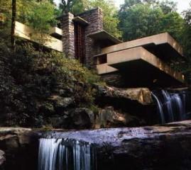 f. l. wright,maison sur la cascade,architecte,kaufmann house,maubles hexagonaux