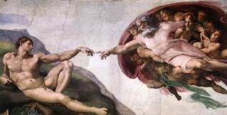 la création d'adam,michel-ange,chapelle sixtine,vatican,créateur,premier homme