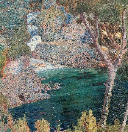 rochers,rubaldo merello,peinture,divisionnisme,pointillisme