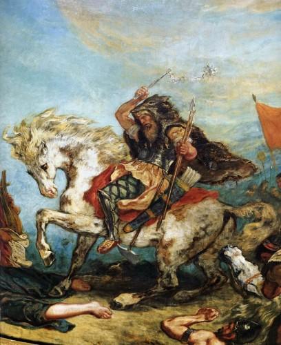 delacroix,attila suivi des hordes barbares