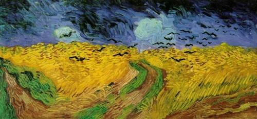 van gogh,champs de blé aux corbeaux,peintre,folie