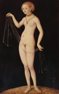 vénus au voile,lucas cranach l'ancien,peintre,graveur,vénus