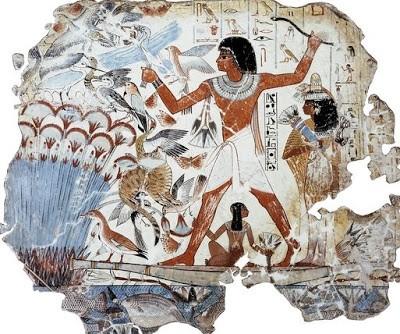 égypte,bas-reliefs tombes,égypte xviiie dynastie,thèbes,nil,scènes agricoles égyptiennes,scènes de la vie quotidienne en égypte,scène de chasse en égypte