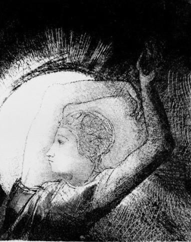 odilon redon,l'apocalypse de saint-jean,lithographie