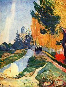 les alyscamps,paul gauguin,van gogh,arles,cimetière des alyscamps,canal de craponne