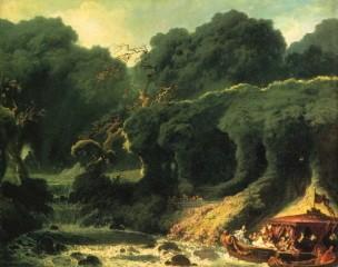 l'île d'amour,la fête à rambouillet,fragonard,verdure,chutes d'eau,marivaudage