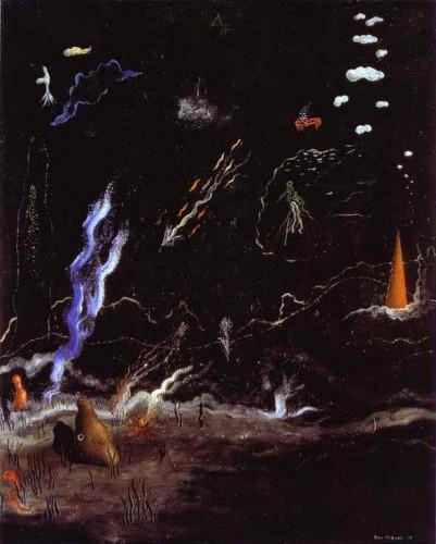 l'orage,yves tanguy,peintre surréaliste