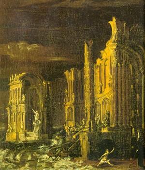 monsu desiderio,françois de nomé,la chute de l'atlantide,peintre,imaginaire,irrationnel